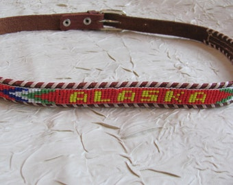 Classic Beaded Souvenir Belt