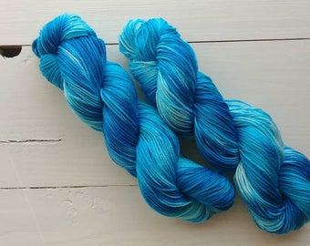 SURFS UP, Hand dyed yarn, 4ply, Pima Cotton Yarn