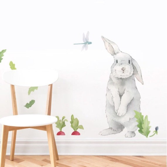 Silly Bunny Fabric Wall Decal Hop Mej Mej