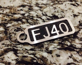 FJ40 keychain powdercoated aluminum