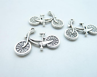 20pcs Bicycle Charms, Antique Silver Bicycle,Bike Charm Pendants 19x26mm C7151