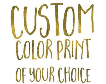 Pick a Custom Watercolor for Any Listing!
