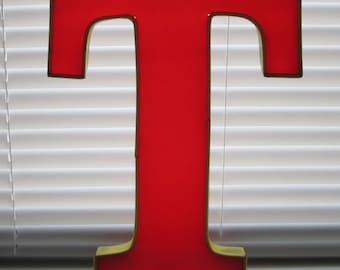 Vintage Store Sign Large Red Letter Translucent Marquee Reclaimed Decoration Urban Alphabet Plastic Epoxy T (2 of 2)