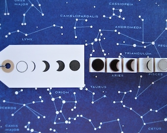 Moon Phases Stamps. Moon Stamps. Phases of the Moon Stamps. Lunar Phases Stamps. Astrology Stamps. Moon Cycle Stamps. Planet Stamps.