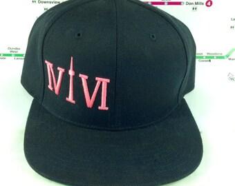 Love Pink! 416 hats. Original, Custom, One of a Kind, Snap backs, CN Tower, The Six, 6ix, Area Code, 416 Hats, 647, Roman Numerals
