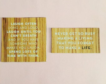 Laugh often... / Never get so busy... Quotes Magnet Set