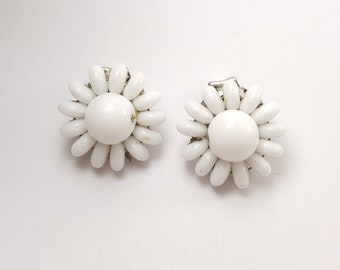 1950s 50s glass clip on earrings West Germany