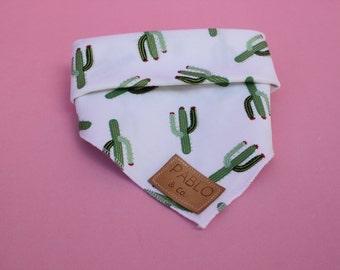 Ya Prick Cactus Green Gold  Saguaro Dog Bandana Tie On Bandana Dog Accessories Fashion Apparel Neckerchief Designer by Pablo & Co
