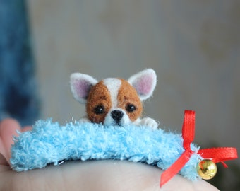 Chihuahua,Chihuahua felted, needle felted animal, needle felt chihuahua, READY TO SHIP