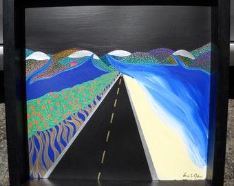 Create Sunshine Black Night Road