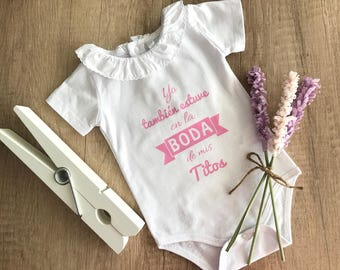 BODY para BEBE PERSONALIZADO. Vinilo textil en color rosa.