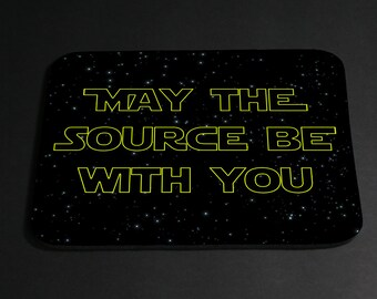 May the Source be with you foam mouse pad