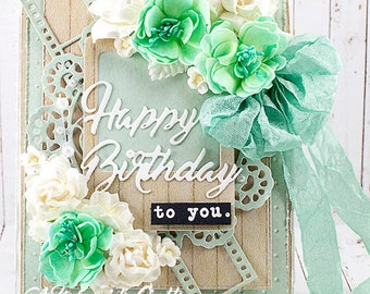 Shabby Chic Photography Themed Happy Birthday To you Greeting Card