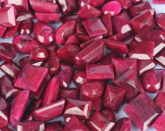 Natural Blood Red Ruby Gemstones Lot July birthstone 100 % Natural African Faceted Red Ruby Mix Shape Loose Gemstone Lot @ Wholesale Price