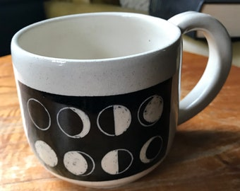 Hand carved, Lunar Mug