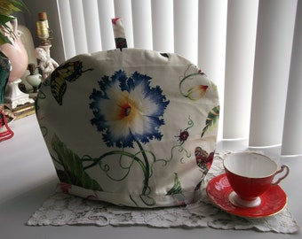 Botanical Print Tea Pot Cosy with Insulated Liner  Floral Tea Pot Cozy