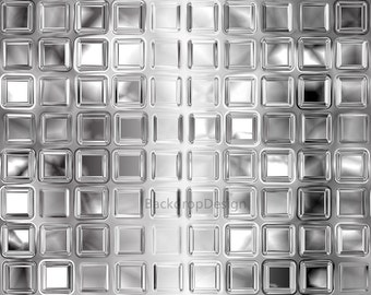 White Tile Backdrop - shiny bright tile wall - Printed Fabric Photography Background G0100
