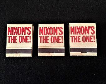 Presidential Memorabilia- Official President Nixon Campaign Matchbooks