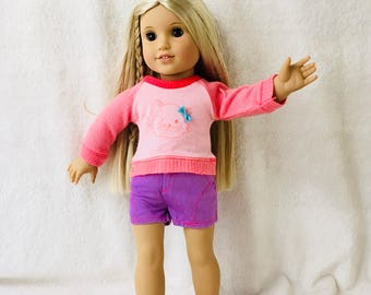 American Doll Sweater and Shorts.