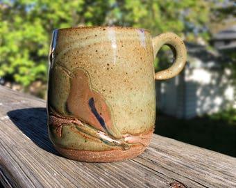 Celadon HummingBird Mug