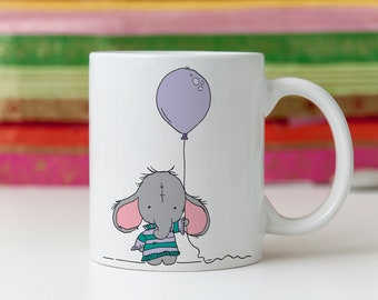 Custom mug, elephant mug, personalized mug, best friend mug, best friend gift, sister gift, unique mug, cute mug, coffee cup, adorable mug