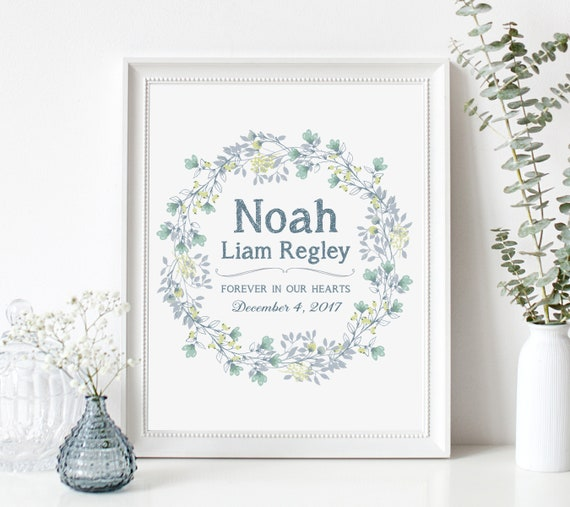Infant Loss Memorial Gift Print - Miscarriage Gift - Sympathy Gift - Death of Loved One - Baby Memorial Sign - Stillborn Stillbirth Gift