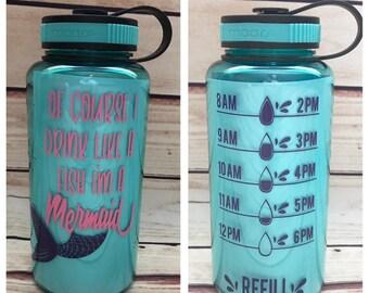 mermaid bottle, Water tracker , water bottle tracker, mermaid water bottle, mermaid cup, keep track water, water bottle, drink your water,