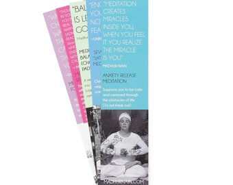 Meditations for Anxiety (Kundalini Meditation Bookmarks)