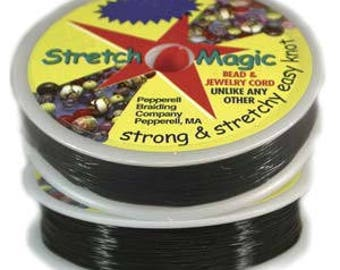 Stretch Magic 0.5mm Black Elastic Cord 25m Spool