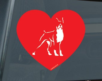 Love Boxer Profile Love Die Cut Vinyl Sticker - 590