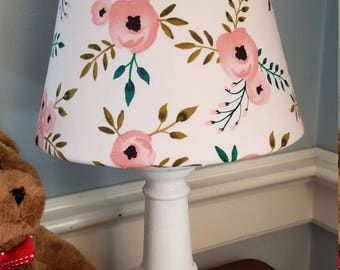 Boho Pink Floral Nursery Lamp, Floral Accent/table Lamp, Baby Girl Nursery  Accent
