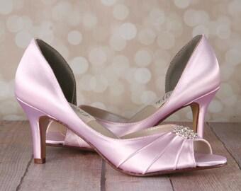 Wedding Shoes, Pink Wedding Shoes, Wedding Shoes Pink, Simple Bridal Shoes,  Peep