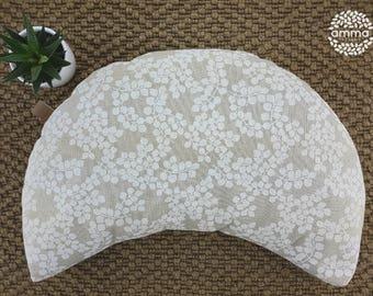 Zafu portatif Croissant de lune Amma Thérapie   Coussin de yoga & méditation   coussin de sol lavable en écales de sarrasin avec doublure