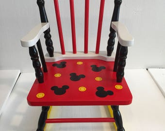 Mickey Mouse - Mickey Mouse Rocking Chair - Mickey Mouse nursery - Mickey Mouse kids furniture - Mickey mouse gift -mickey mouse decor