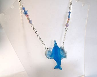 Narwhale pendant