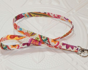 Badge Holder Lanyard - Fabric Lanyard - Key Lanyard - Teachers Gifts