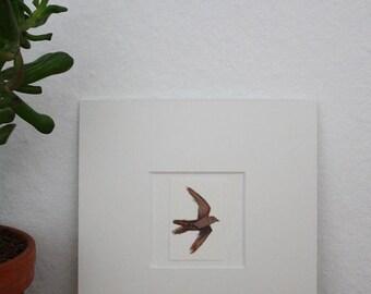 "Original illustration ""Swifts"" - gouache"