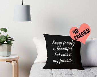 Family Quote Pillow, Family Throw Pillow, Family Pillow Case, Family Quote Cushion, Family Toss Pillow, Family Pillow Cover, Family Decor
