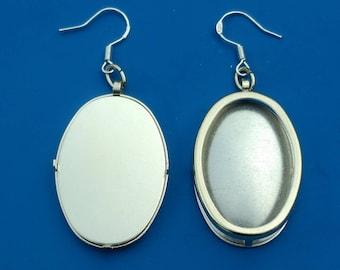 Silver Oval Earring Settings, Earring Frames, Earring Mounts, Earring Making, Embroidery Earring Mountings, Make Embroidered Earrings