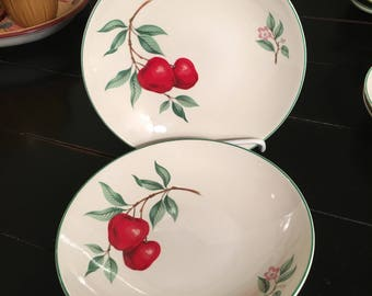 "Set of 2 vintage Homer Laughlin ""Rhythm"" soup bowls"