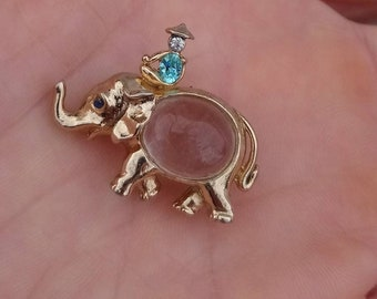 Vintage Jelly Belly Elephant Brooch
