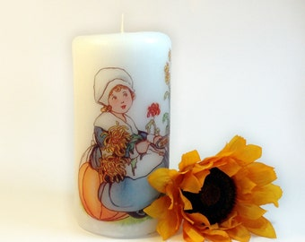 Thanksgiving Candle, Thanksgiving Decor, Thanksgiving Turkey Decor, Thanksgiving Pilgrim Decor, Thanksgiving Table Decor, Pilgrim Candle