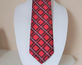 Vintage PIERRE CARDIN NECKTIE  /  Retro Wide Tie  /  Red Tie  / Gift Boxed