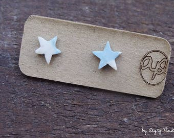 Earrings ceramic in the shape of stars