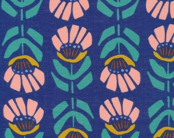 Cloud 9 Fabrics - Floret Collection - BATISTE Iris in Ultramarine