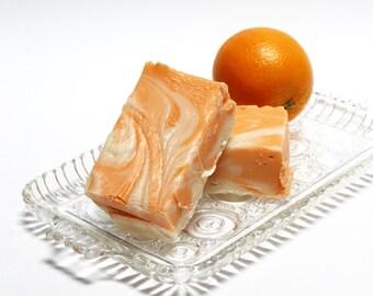 Orange Cream Fudge, 1 1/2 pounds, Old-fashioned Cream & Butter Fudge, smooth and creamy