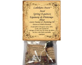 Spring Equinox Altar - Loose Incense & Anointing Oil Set