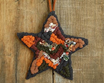 Star Ornament, Locker Hook, Fabric Ornament, Christmas Ornament, Home Decor