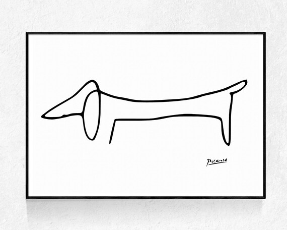 Picasso Dog PRINTABLE ART Picasso Sketch Picasso Dog Print