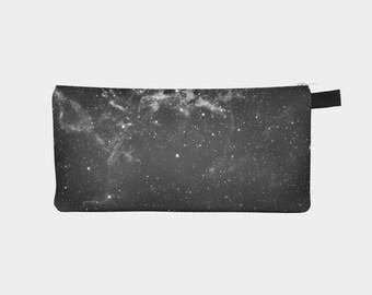 Black Pencil Case, Galaxy Pencil Case, Space Pouch, Zipper Pencil Pouch, Galaxy Pencil Bag, Black Zip Pouch, Galaxy Makeup Bag, Galaxy Pen,